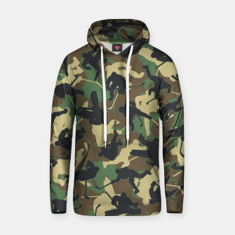 Thumbnail image of Ice Hockey Player Camo Woodland Forest Camouflage Pattern Hoodie, Live Heroes
