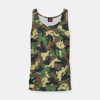 Thumbnail image of Ice Hockey Player Camo Woodland Forest Camouflage Pattern Tank Top, Live Heroes