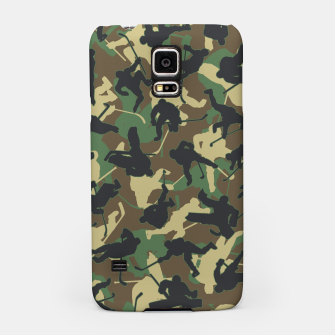 Thumbnail image of Ice Hockey Player Camo Woodland Forest Camouflage Pattern Samsung Case, Live Heroes