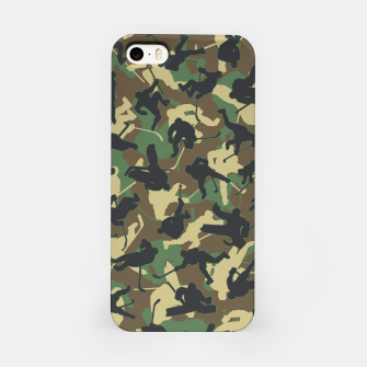 Thumbnail image of Ice Hockey Player Camo Woodland Forest Camouflage Pattern iPhone Case, Live Heroes