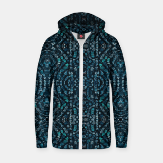 Thumbnail image of Fancy Stone Mosaic Print Pattern Zip up hoodie, Live Heroes