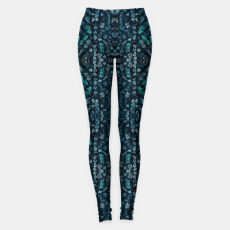 Thumbnail image of Fancy Stone Mosaic Print Pattern Leggings, Live Heroes
