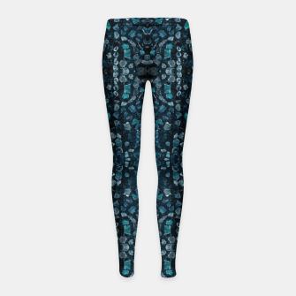Thumbnail image of Fancy Stone Mosaic Print Pattern Girl's leggings, Live Heroes