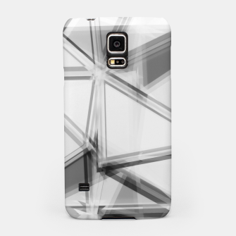 Miniaturka geometric triangle abstract background in black and white Samsung Case, Live Heroes