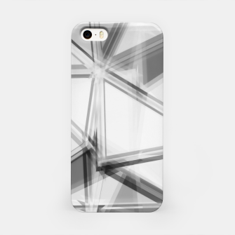 Miniaturka geometric triangle abstract background in black and white iPhone Case, Live Heroes