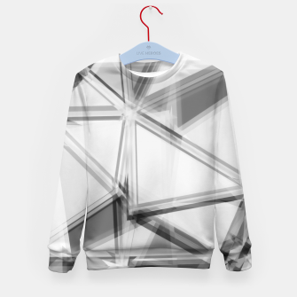 Miniaturka geometric triangle abstract background in black and white Kid's sweater, Live Heroes
