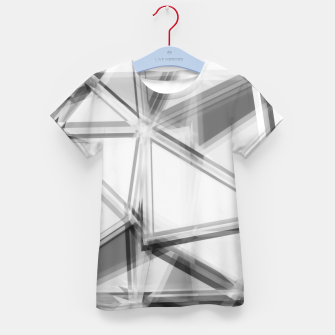 Miniaturka geometric triangle abstract background in black and white Kid's t-shirt, Live Heroes