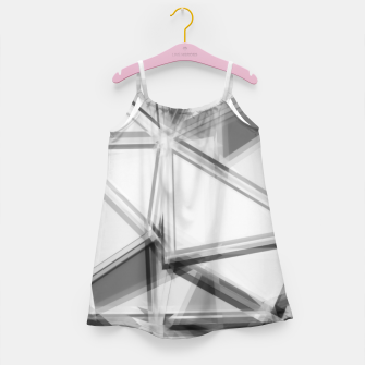 Miniaturka geometric triangle abstract background in black and white Girl's dress, Live Heroes