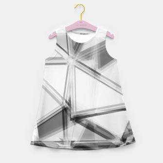 Miniaturka geometric triangle abstract background in black and white Girl's summer dress, Live Heroes