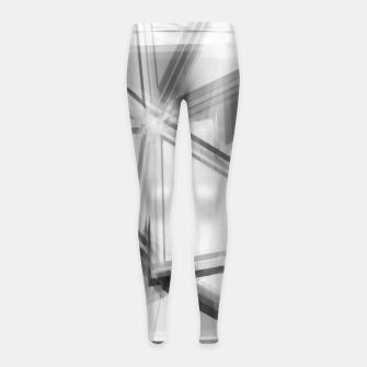 Miniaturka geometric triangle abstract background in black and white Girl's leggings, Live Heroes