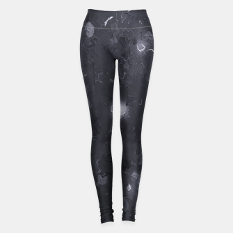 Miniaturka painting texture abstract background in black and white Leggings, Live Heroes