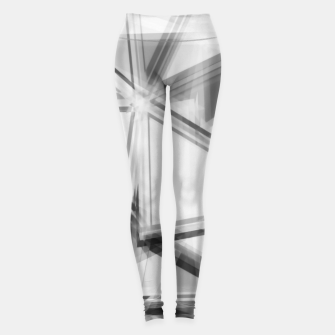 Miniaturka geometric triangle abstract background in black and white Leggings, Live Heroes