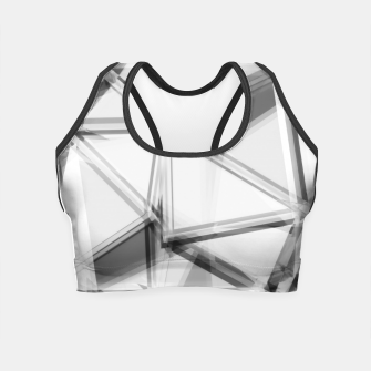 Miniaturka geometric triangle abstract background in black and white Crop Top, Live Heroes