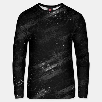 painting texture abstract background in black and white Unisex sweater miniature