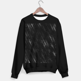 Miniaturka painting texture abstract background in black and white Sweater regular, Live Heroes