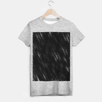 painting texture abstract background in black and white T-shirt regular miniature