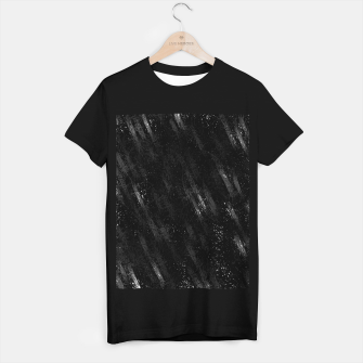 Miniaturka painting texture abstract background in black and white T-shirt regular, Live Heroes