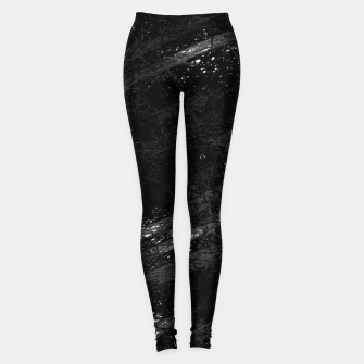 Miniature de image de painting texture abstract background in black and white Leggings, Live Heroes