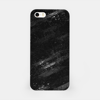 Miniature de image de painting texture abstract background in black and white iPhone Case, Live Heroes