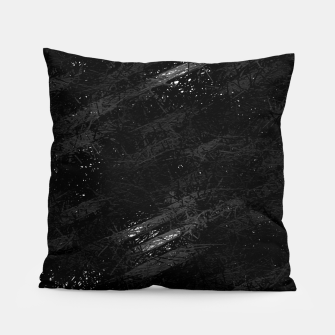 Miniature de image de painting texture abstract background in black and white Pillow, Live Heroes