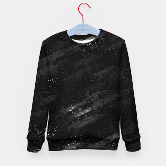 Miniaturka painting texture abstract background in black and white Kid's sweater, Live Heroes