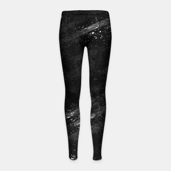 Miniature de image de painting texture abstract background in black and white Girl's leggings, Live Heroes