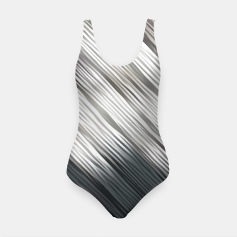 Thumbnail image of geometric line pattern abstract background in black and white Swimsuit, Live Heroes