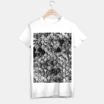 Thumbnail image of geometric square pattern abstract background in black and white T-shirt regular, Live Heroes
