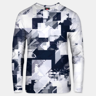 Thumbnail image of geometric square pixel pattern abstract background in black and white Unisex sweater, Live Heroes