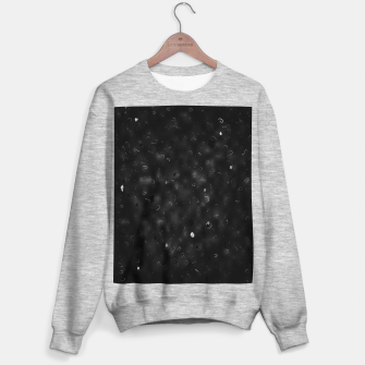 painting texture abstract background in black and white Sweater regular miniature