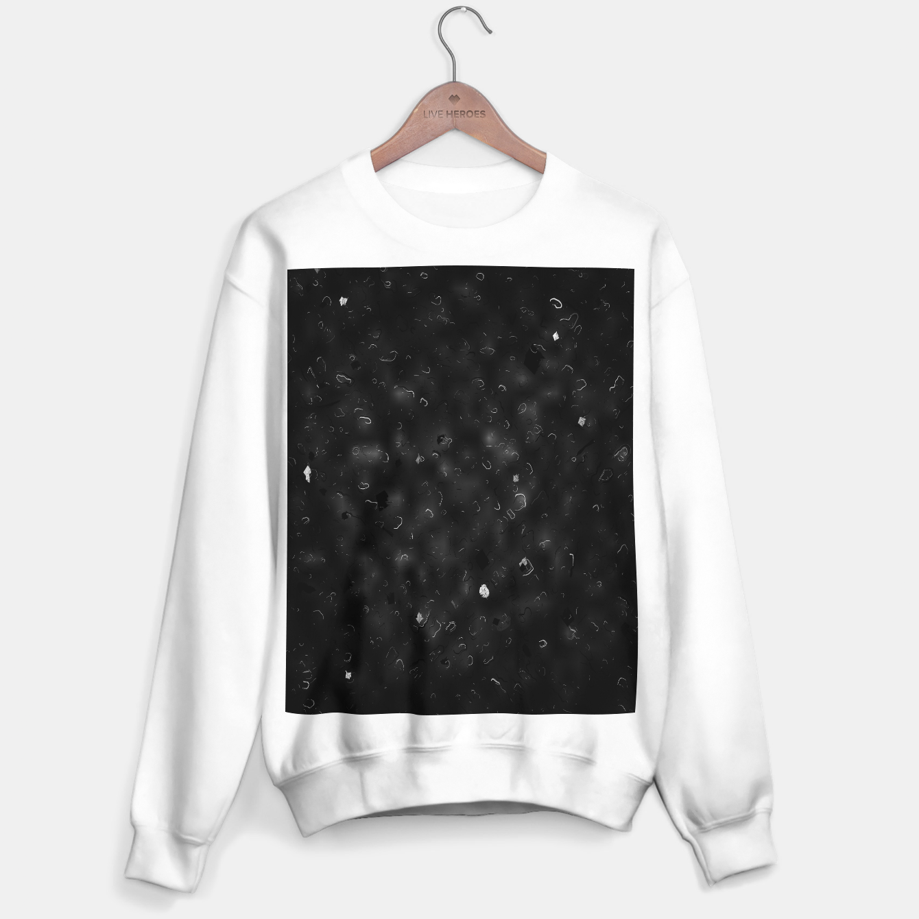 Image de painting texture abstract background in black and white Sweater regular - Live Heroes