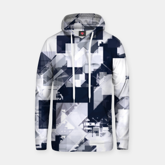 Thumbnail image of geometric square pixel pattern abstract background in black and white Hoodie, Live Heroes