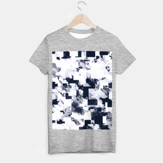 Thumbnail image of geometric square pixel pattern abstract background in black and white T-shirt regular, Live Heroes