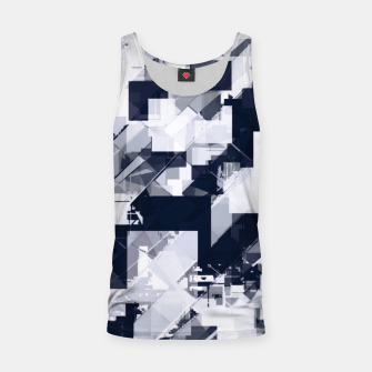 Thumbnail image of geometric square pixel pattern abstract background in black and white Tank Top, Live Heroes