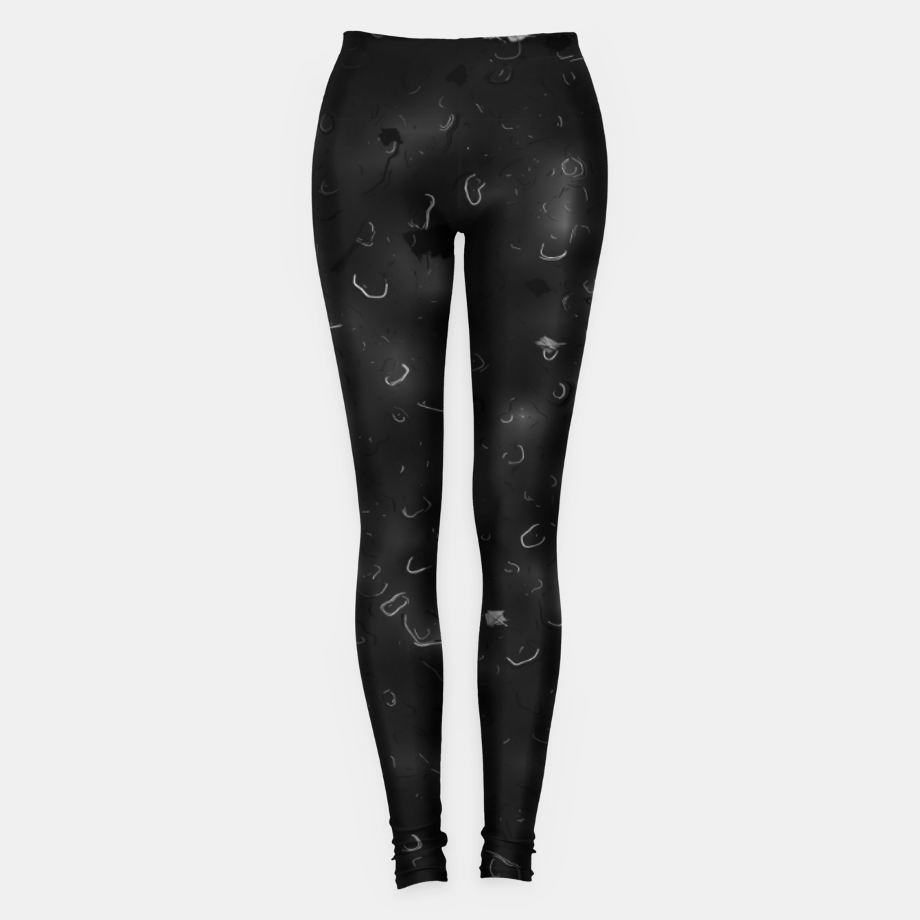 Image de painting texture abstract background in black and white Leggings - Live Heroes