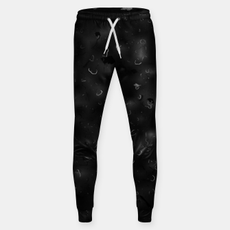 painting texture abstract background in black and white Sweatpants miniature