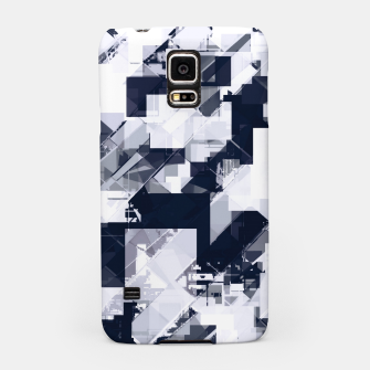 Thumbnail image of geometric square pixel pattern abstract background in black and white Samsung Case, Live Heroes