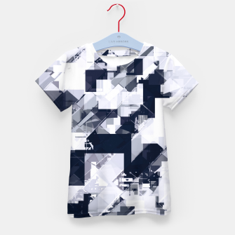 Thumbnail image of geometric square pixel pattern abstract background in black and white Kid's t-shirt, Live Heroes