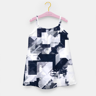 Thumbnail image of geometric square pixel pattern abstract background in black and white Girl's dress, Live Heroes