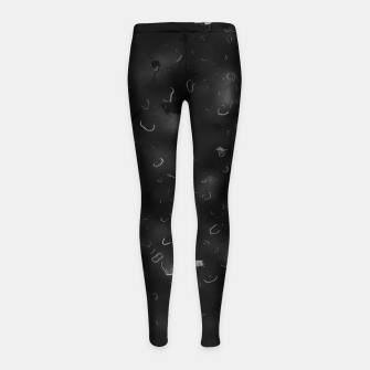 painting texture abstract background in black and white Girl's leggings miniature