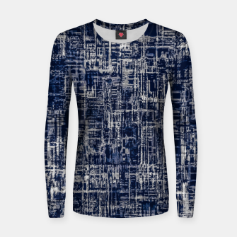 Imagen en miniatura de geometric line art texture abstract background in black and white Women sweater, Live Heroes