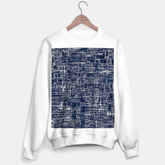 Imagen en miniatura de geometric line art texture abstract background in black and white Sweater regular, Live Heroes