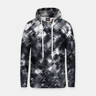Thumbnail image of geometric square pixel pattern abstract in black and white Hoodie, Live Heroes