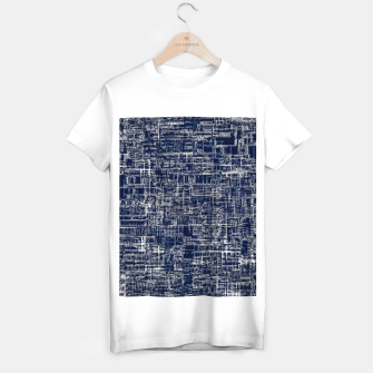 Imagen en miniatura de geometric line art texture abstract background in black and white T-shirt regular, Live Heroes