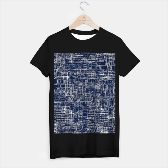 Thumbnail image of geometric line art texture abstract background in black and white T-shirt regular, Live Heroes