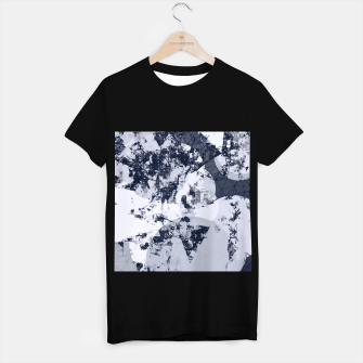 Thumbnail image of geometric art abstract background in black and white T-shirt regular, Live Heroes