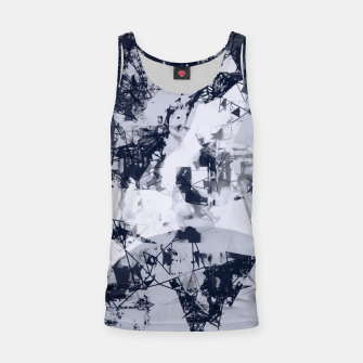 Thumbnail image of geometric art abstract background in black and white Tank Top, Live Heroes