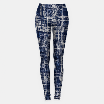 Thumbnail image of geometric line art texture abstract background in black and white Leggings, Live Heroes