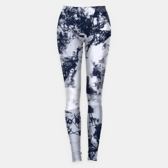 Thumbnail image of geometric art abstract background in black and white Leggings, Live Heroes