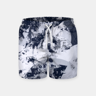 Thumbnail image of geometric art abstract background in black and white Swim Shorts, Live Heroes